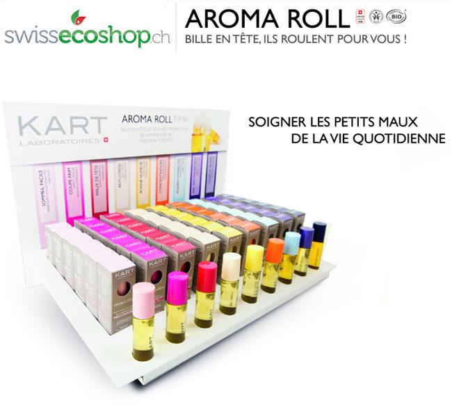 Gamme Aroma Roll des Laboratoires KART SA - Présentoir