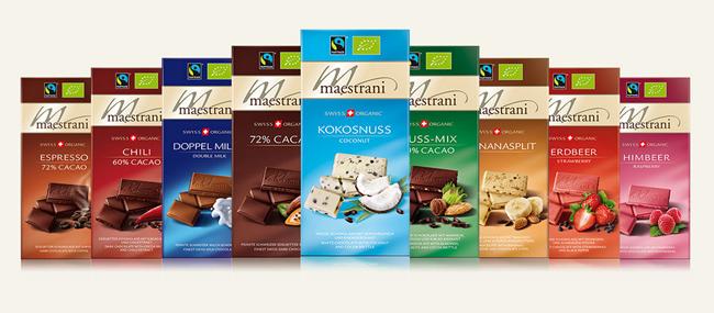 Gamme de Chocolat Maestrani