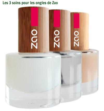 LEs 3 soins pour ongles de Zao